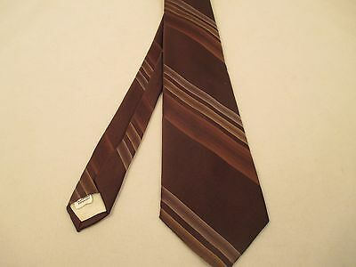 New Men's Neck Tie Damon Brown Color Striped Made in USA