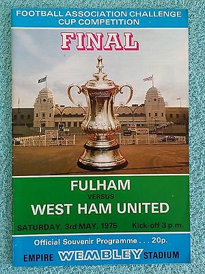 1975 - FA CUP FINAL PROGRAMME - FULHAM v WEST HAM UTD - V.G CONDITION