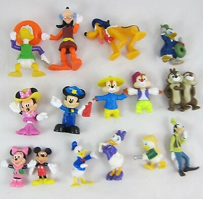 Disney's Mickey and Friends Figures Lot of 15 PVC Toys: Epcot, Donald, Minnie ++
