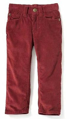 Old Navy Toddler Girls SKINNY Corduroy Pants Size 4T Burgundy NEW