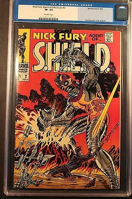 Nick Fury Agent of Shield # CGC VF 7.5- Old Label Steranko Art