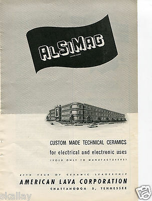 1948 Print Ad of American Lava Corp AlSiMag Chattanooga TN