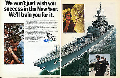 1975 United States NAVY The Spirit of '75 Recruiter 2 Page Print Ad