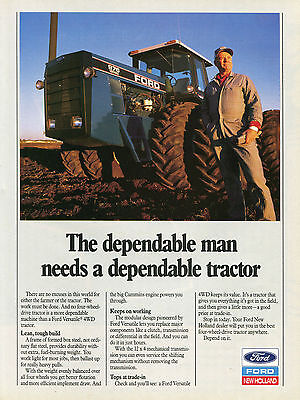 1991 Ford New Holland Versatile 976 Farm Tractor Print Ad