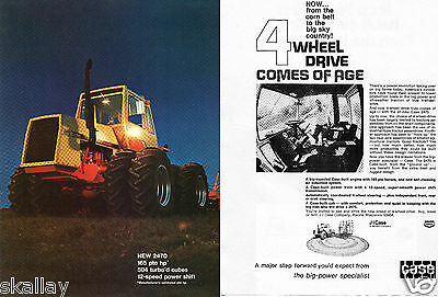 1972 2 Page Print Ad of Case 2470 Farm Tractor
