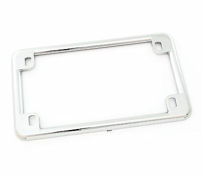 "Chrome New Motorcycle Custom License Plate Frame - 4"" X 7"" Inch - Emgo 86-42600"