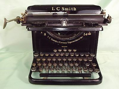 """L.C Smith & Corona #8 With 14"""" Carriage (1934)"""