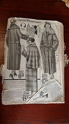 1924 Montgomery Ward  Catalog - missing cover and pages - great reference
