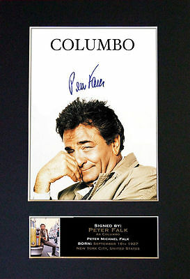 PETER FALK / COLUMBO - MEMORABILIA - Collectors Signed Photo + FREE SHIPPING
