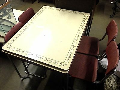 Vintage 1930s Enamel Top Kitchen Table with Pull Out Leaves and Drawer Leaf Ends