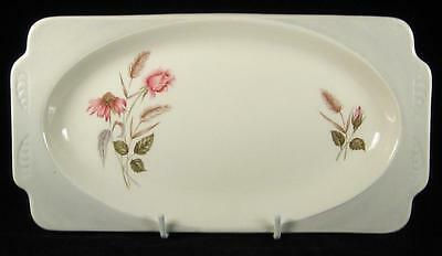 Wood & Sons Pink Flowers & Grey Handles Sandwich Tray 1962