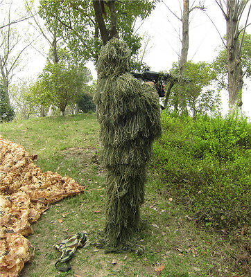 Outdoor Camouflage Hunting Suit Cloth Tactical Wrap Bionic Warrior Ghillie Suit