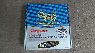 """Snap On Dale Earnhardt 3/8"""" Air Ratchet/Grinder/Car. Special Collectible Set"""