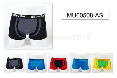 5pc Size 9 8-10 years Comfort Cotton Boys Boxer Briefs Plain Kids Underwear