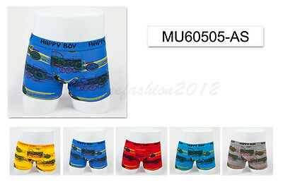 5pc Size 7 6-8 years Comfort Cotton Boys Boxer Briefs Motor Kids Underwear