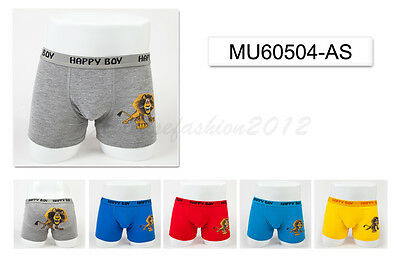 5pc Size 9 8-10 years Comfort Cotton Boys Boxer Briefs Lion Kids Underwear