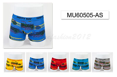5pc Size 5 4-6 years Comfort Cotton Boys Boxer Briefs Motor Kids Underwear
