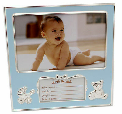 Baby Boy Blue Birth Record Photo Frame Newborn Baby Shower Gift Idea