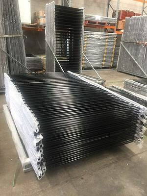 Pool Fencing Panels 1500mm (H) x 2400mm (W) Black -Proof of Certificate Steel