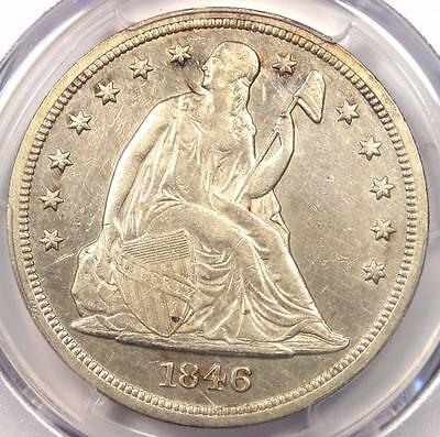 1846 Seated Liberty Silver Dollar $1 - PCGS XF Details - Rare Early Date Coin!
