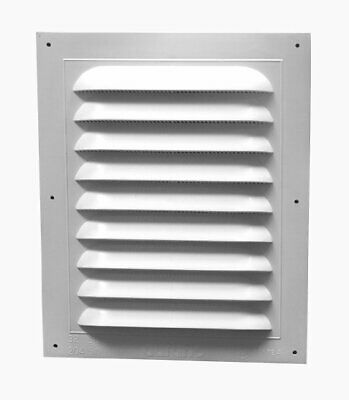 Gable Vent 8x12in Std Rect, Single, PartNo 621300, by Canplas Inc