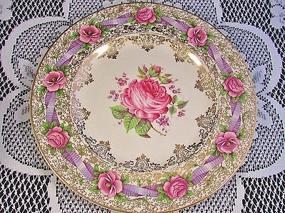 Rare Royal Staffordshire Clarice Cliff Miniver Rose 11 Inch Plate