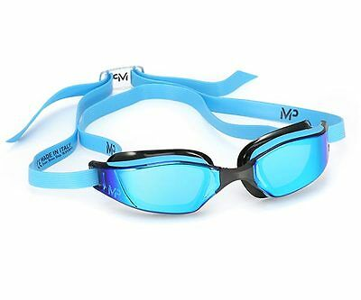 MP Michael Phelps Xceed Swimming Goggles - Titanium Mirrored - Blue Edition