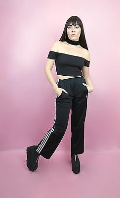 VTG 90s Black Adidas Track Pants Size S, M, Retro, Hipster, Athletic