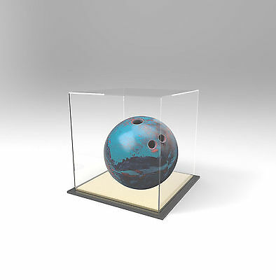 Tenpin Bowling Ball Deluxe Display Case Acrylic Perspex - GOLD
