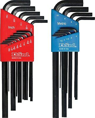 Eklind Tool Company 10222 22 Piece Combination Long Hex-L Key Set in Molded Plas