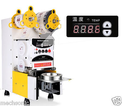 NEW Full Automatic Bubble Tea Cup Sealing machine Fruit Juice Cup Sealer 220V S