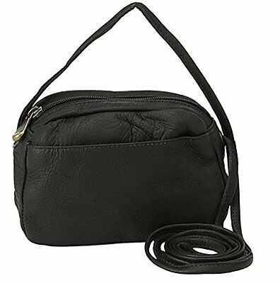 David King & Co. Top Zip Mini Bag 517, Black, One Size