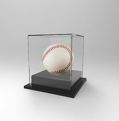 Baseball  Display Case Acrylic Perspex: Competition Winning Ball - BLACK
