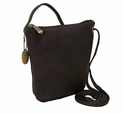 David King & Co. Top Zip Mini Bag 518, Café, One Size
