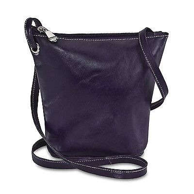 David King & Co. Florentine Top Zip Mini Bag 3518, Purple, One Size