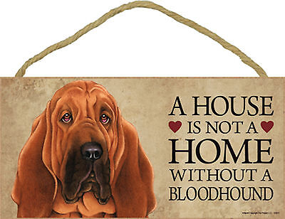 A house is not a home without a Bloodhound Wood Puppy Dog Sign Plaque USA Made