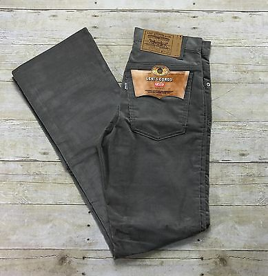 Vintage Deadstock 1980s Levis Cords Gray Corduroy Jeans Made in USA Mens W29 L32
