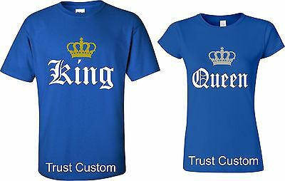 Couple Matching Love T-Shirts - King And Queen - His and Her