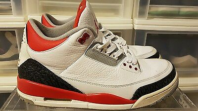 "Nike Air Jordan Retro 3 ""Fire Red"" Size 11 100% authentic yeezy boost nike sb"