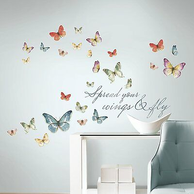 Butterfly Quote Stickers Wall Decals for Kids Room Girls Room