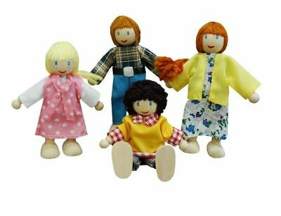 Fun Factory - Doll Family - White Educational Wooden Toy