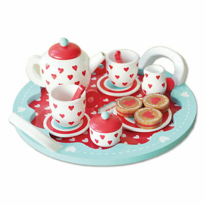 Indigo Jamm - Hearts Tea Set Educational Wooden Toy