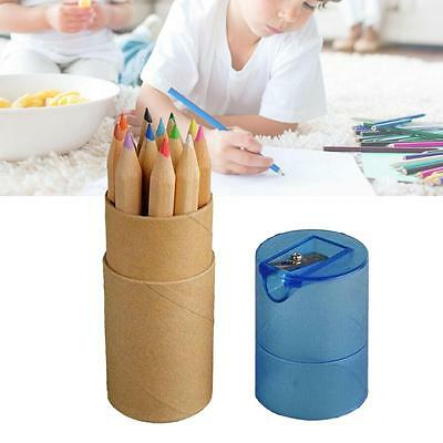 12 Color Pencil Colored Drawing Set For Kids Amateurish With Pencil Sharpener FA