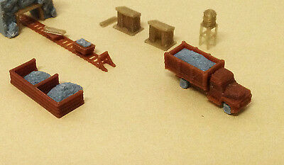 Outland Models Train Railway Ore Mining Accessories: Cart Truck Shanty.. Z Scale