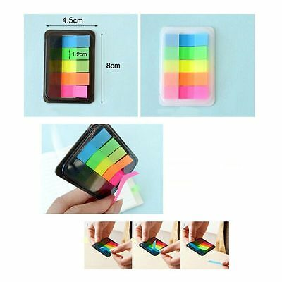 100X Fluorescence Sticky Notes Memo Flags Post Bookmark Marker Tab Sticker