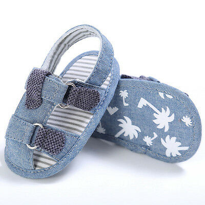 Kids Summer Shoes Baby Sandals for 0-18 Months Infants Girl Boy Soft Crib Shoes
