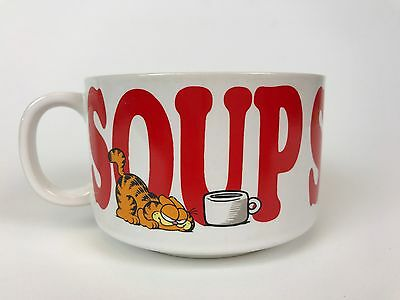 Vintage 1978 Enesco Garfield Soup Mug/Bowl With Red Lettering