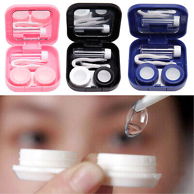 Mini Contact Lens Storage Case Box Container Travel Kit Prevent Leakage