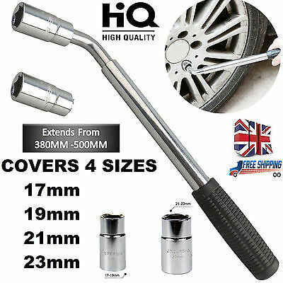17&19 21&23mm Extendable Telescopic Wheel Brace Wrench Car Van Socket Tyre Nut