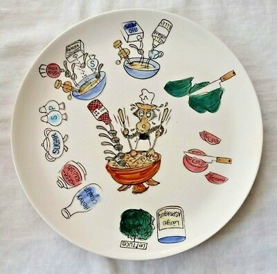 Vintage Ironstone Wolf salad cooking plate made in Japan retro